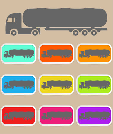 Icon trucks with tanks - a illustraton symbol Vector