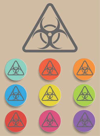 germ warfare: Warning symbol biohazard - a illustraton symbol