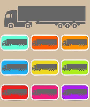 Icon trucks with refrigerator.  Vector