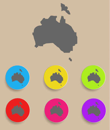 australia map: Australia Map - icon isolated.  Illustration