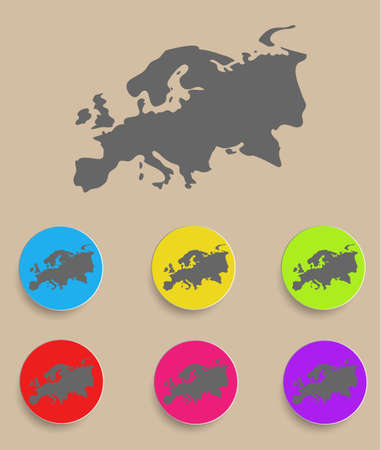 Europe Map - icon isolated. Vector illustration Vector