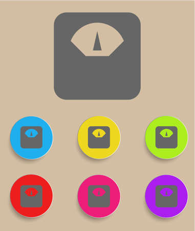 lbs: Scale icon with color variations