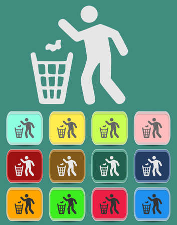 botar basura: aislado negro ni rastro tirar basura.