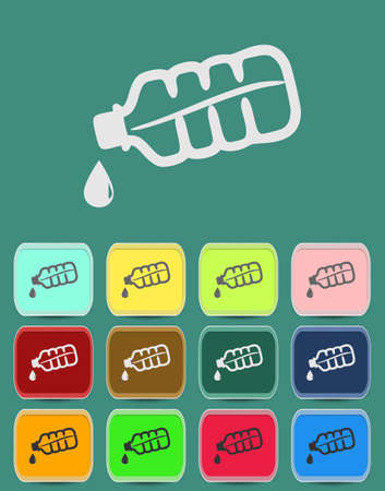 Drop bottle icon Illustration with Color Variations