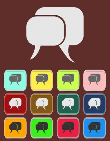 tell stories: Flat icon of a communication - dialogue.