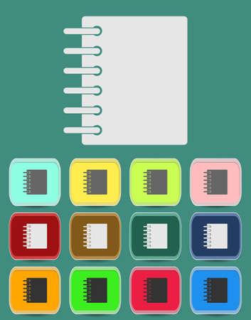 sketchpad: Ring binder calendar notepad