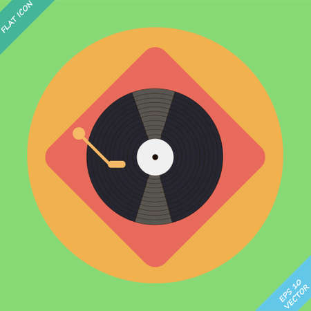 turntable player icon  Vector