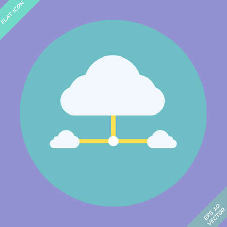Cloud network connection  Vector