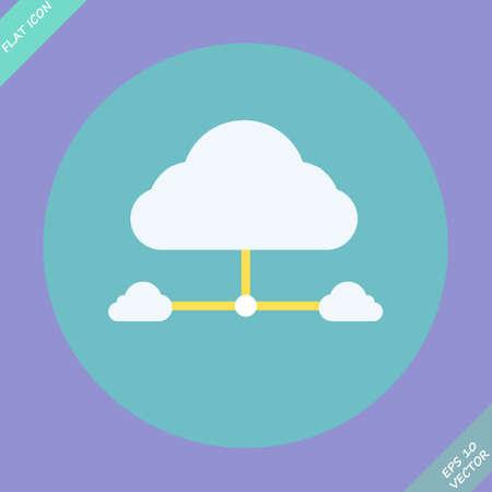 Cloud network connection  Vector