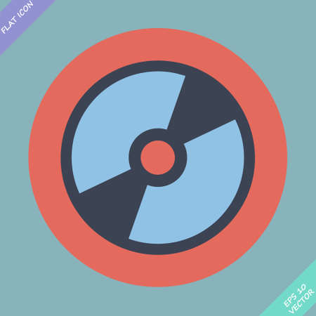 cd r: CD or DVD icon - vector illustration  Flat design element