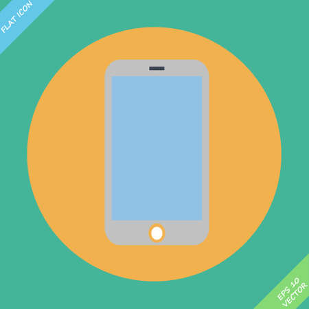 Smartphone Icon - vector illustration  Flat design element Vector