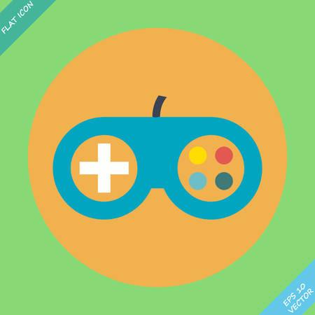 joypad: Icono del controlador de juego - ilustraci�n vectorial elemento de dise�o Flat