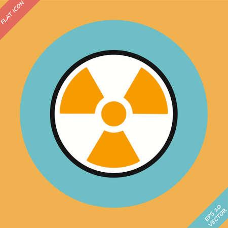 Radiation sign - vector illustration  Flat design element Vector