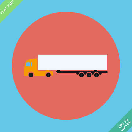 Icon trucks with refrigerator - vector illustration  Flat design element Vector