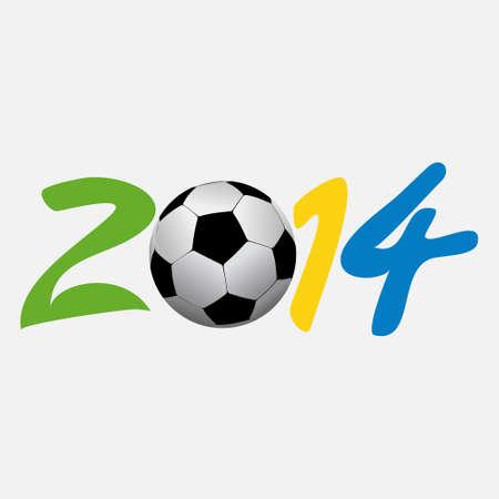 vectorillustratie voetbal 2014 vector illustratie