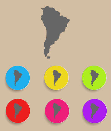human settlement: Aouth America Map - icon isolated  Vector illustration Illustration