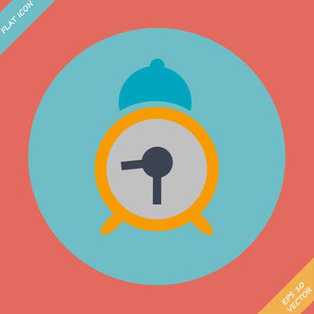 Alarm clock icon - vector illustration  Flat design element Vector