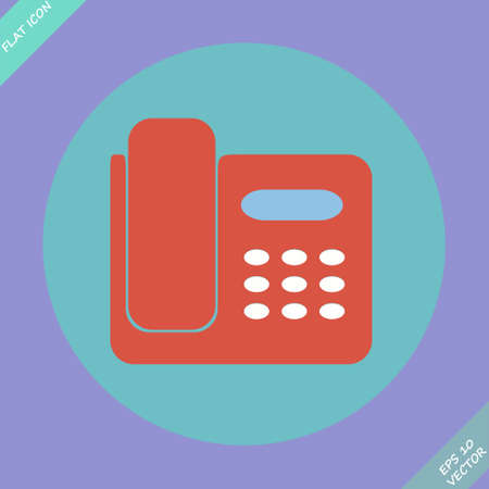 Icon of phone isolated - vector illustration  Flat design element Vector