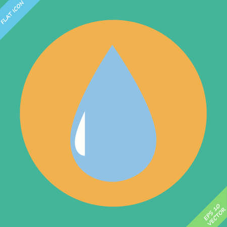 Drop icon with - vector illustration  Flat design element Vector