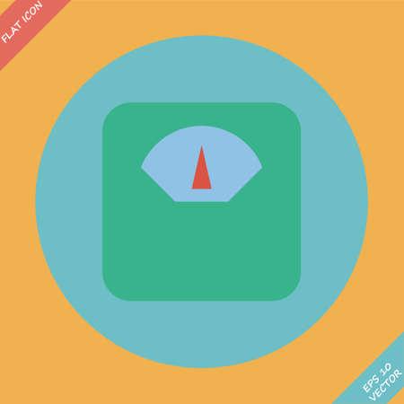 Scale icon - vector illustration  Flat design element Vector
