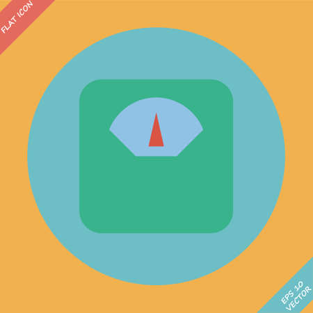 lbs: Scale icon - vector illustration  Flat design element