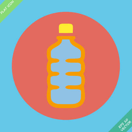 Plastic bottle with drink  Vector