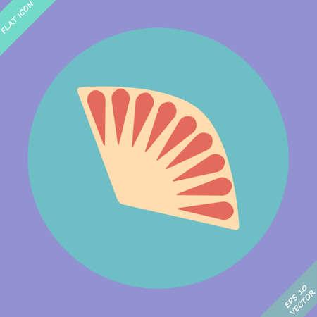 Fan icon isolated - illustration  Flat design element  Vector
