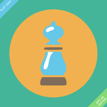 pepper grinder: Pepper icon illustration  Flat design element