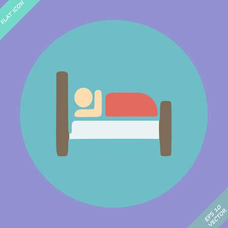 hospedaje: Icono del botón, pictograma con el Hotel, símbolo Alojamiento