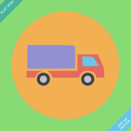 removal van: Delivery truck - illustration  Flat design element