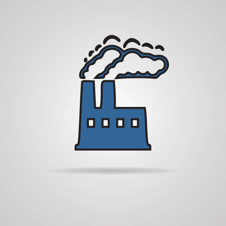 factory icon on gray background  EPS10 vector Vector