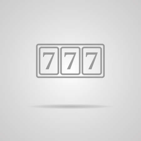 777 vector icon on gray background  Vector