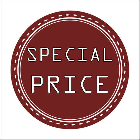 price uncertainty: Special Price Sale Icon, Badge, Label or Sticker Isolated on White Background