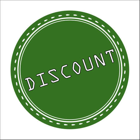 price uncertainty: Discount Sale Icon, Badge, Label or Sticker Isolated on White Background