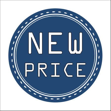price uncertainty: New Price Sale Icon, Badge, Label or Sticker Isolated on White Background