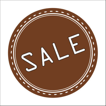 Sale Icon, Badge, Label or Sticker Isolated on White Background