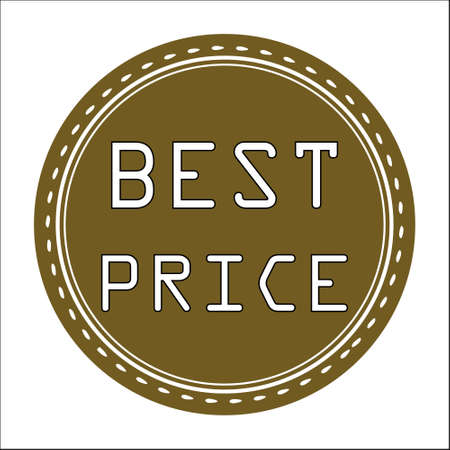 price uncertainty: Best Price Sale Icon, Badge, Label or Sticker Isolated on White Background
