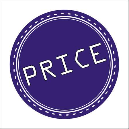 price uncertainty: Price Icon, Badge, Label or Sticker Isolated on White Background Illustration