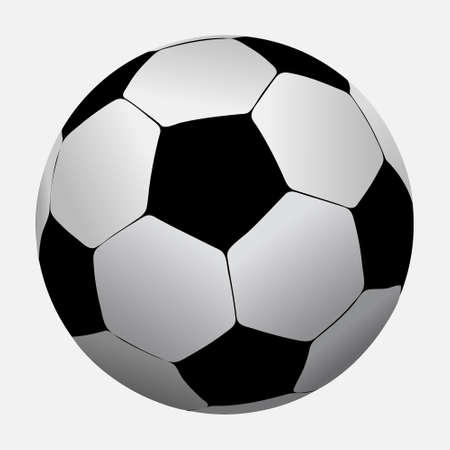 footie: Soccer ball isolated on white background  Vector illustration
