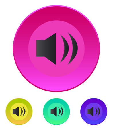 Speaker icon  Volume max  Vector illustration  in different color variations Ilustrace