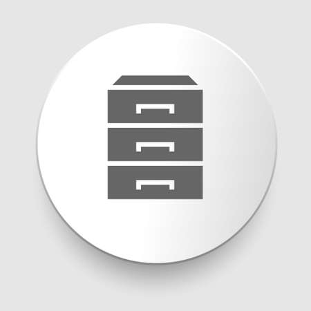 chest of drawers: chest of drawers icon on white background  Illustration