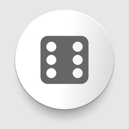 backgammon: Vector illustration of one dices - side with 6