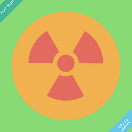 radioisotope: Nuclear sign representing the danger of radiation  Illustration