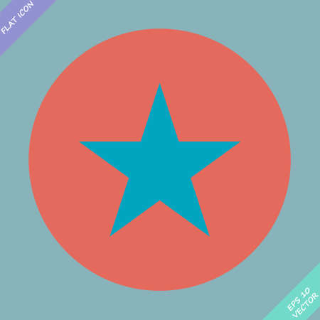 star  icon, vector illustration  Flat design style  Vector