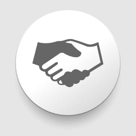 partnership: Handshake vector icon - business concept on white background    Illustration