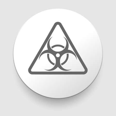 quarantine: Biohazard symbol on white background