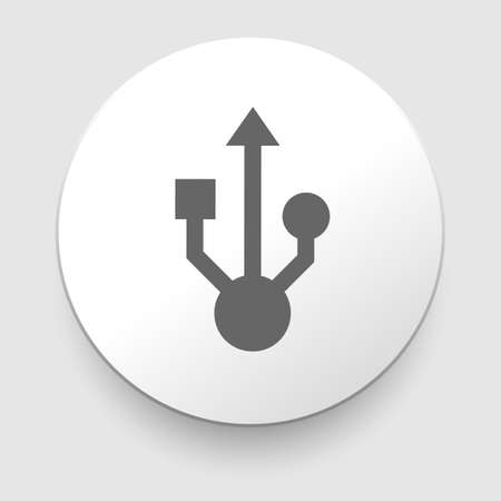 Usb sign for interface electronic hardware Vector