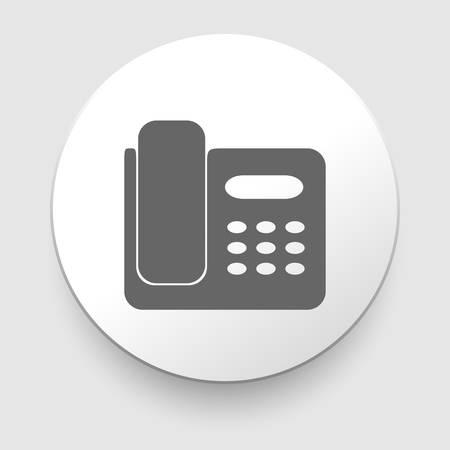 parley: Icono de tel�fono Oficina Ilustraci�n vectorial sobre fondo blanco