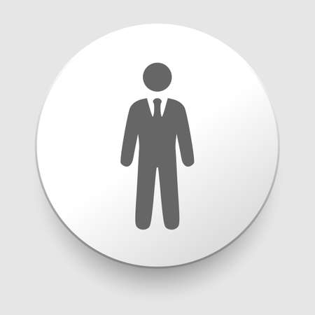 vector icons of businessman or manager on white background  Vector