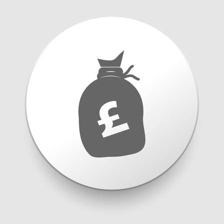 gbp: Money bag sign icon  Pound GBP currency symbol   Vector
